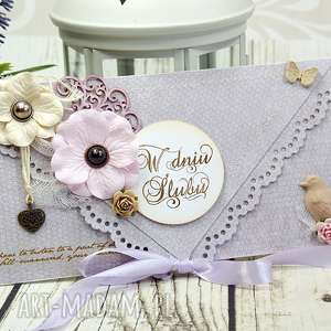 Prezent Kartka ślubna- delikatność poranka, ślub, wesele, ślubna, kartka, kopertówka,