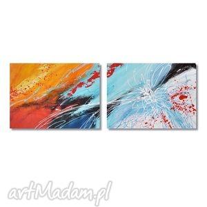 obrazy abstrakcja 2p3, nowoczesny obraz ręcznie malowany, abstrakcja