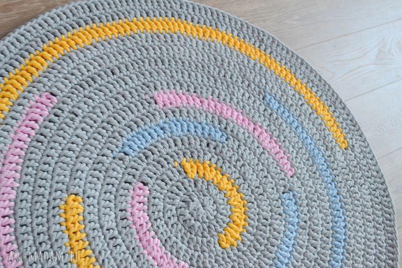 ręcznie wykonane pokoik dziecka dywan rainbow 100cm