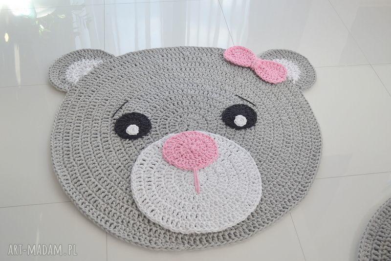 hand-made dywany dywan misia 100cm