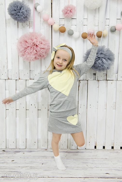 szare ubranka dziecka komplet mama i córka spódnica plus