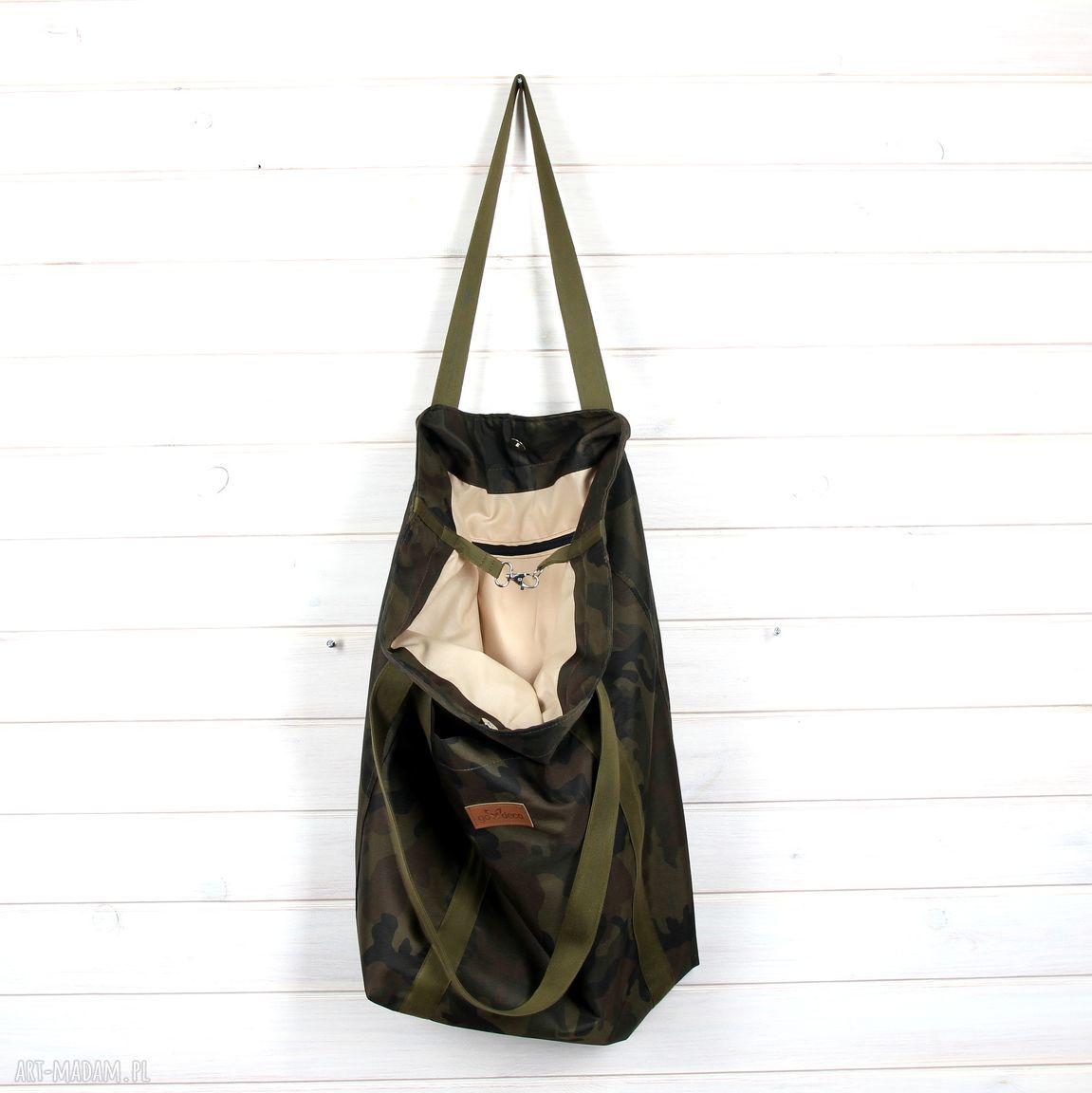hand-made na ramię moro pojemna torba xxl