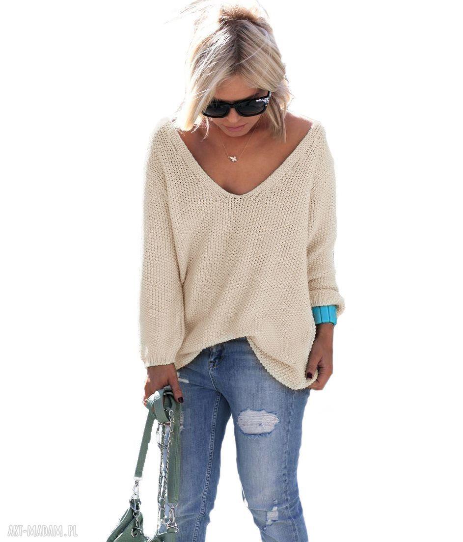 hand-made swetry frywolny sexy serek sweterek:)