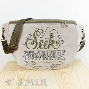 nerka xxl seek adventure - ,nerka,przygoda,las,góry,haft,torebka,