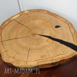 stolik kawowy z plastra drewna dąb, stółzżywicą, stolikkawowy, żywicaepoksydowa