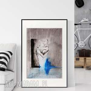 obraz malowany ręcznie tuszem 50 x 70 cm, abstrakcja