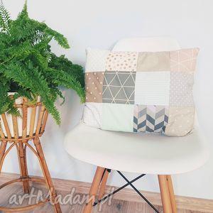 Poduszka pastelowa patchwork - ,poduszka,patchwork,pastelowa,dekoracja,podusia,