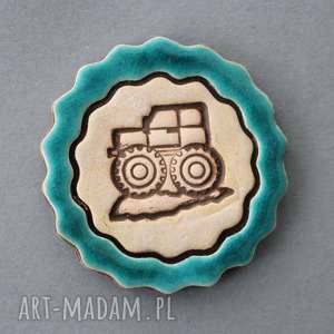 Prezent TRAKTOREK-MAGNES CERAMICZNY, traktor, wieś, lodówka, prezent, urodziny