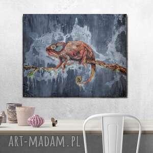 Industrialny i loftowy obraz kameleon sirius92 obra industrialny