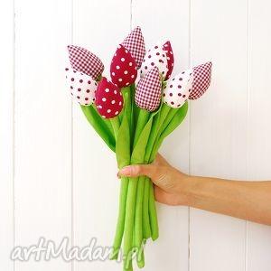 dekoracje bukiet tulipanów, tulipany, tulipan, bukiet, tulipany z materiału, szyte