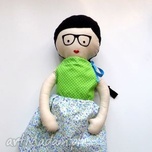 lalki ulala lala - włosy czarne, lalka, szmacianka