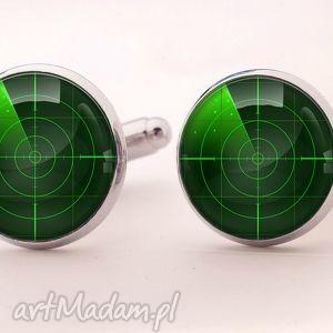 radar - spinki do mankietów - spinki, mankietów, radar, sygnał, męskie