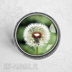 BROSZKA Z DMUCHAWCEM - ,broszka,biżuteria-autorska,dmuchawce,dmuchawiec,natura,roślinny,