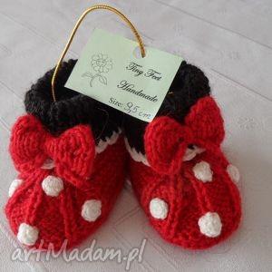 buciki dla niemowląt - kropeczki, buciki, kapciuszki, niemowlęce, dziecięce