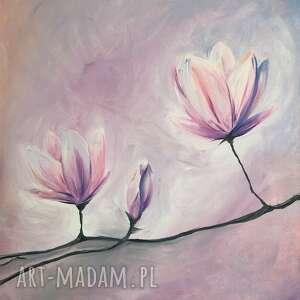 magnolie, obraz, kwiaty, sztuka do domu, pod choinkę prezent