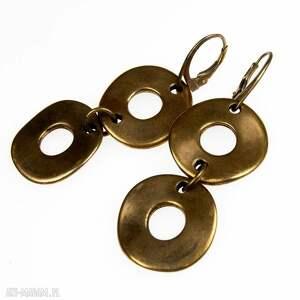 c454 kolczyki firuze - kolczyki, koła, wiszące, boho