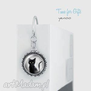 Prezent Zakładka do książki - Czarny kot metalowa, zakładka, książka, kot, metalowa