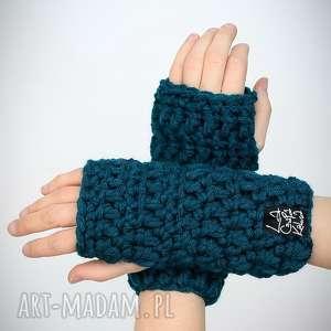 hand-made rękawiczki 21 - morskie