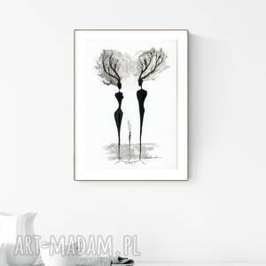 grafika a4, minimalizm, abstrakcja czarno-biała - obrazy ręcznie malowane