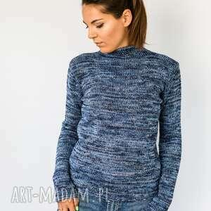 ciepły sweter typu golf z mieszanki wełnianej, sweter, na zimę