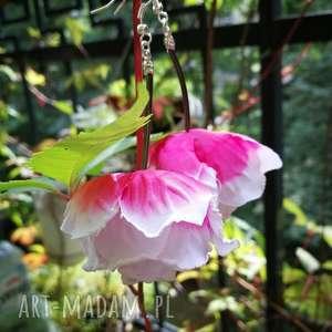 Kolczyki długie lekkie kwiaty ruda klara kwiaty, kolczyki