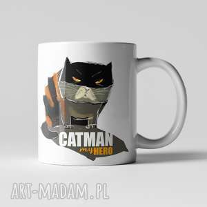Kubek catman my hero kubki fajnymotyw bohater, kot, cat