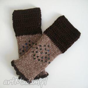 rękawiczki mitenki - rękawiczki, mitenki, włóczkowe, akcesoria, dodatki
