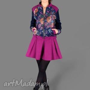 kurtka flower bomber jacket - bomber, kurtka, kieszenie, kwiaty, kolorowa, oryginalna