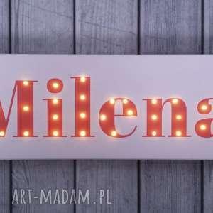 napis led obraz z imieniem personalizowany obraz dekoracja lampa prezent na urodziny