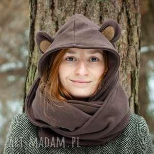 Komin z kapturem - MISIEK, miś, misiek, niedźwiedź, uszy, zwierzę, las