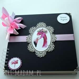 ręcznie robione scrapbooking albumy album na wieczór panieński - flamingi