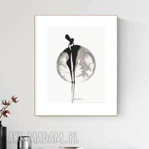 grafika 30x40 cm wykonana ręcznie, abstrakcja, obraz do salonu, 2618845
