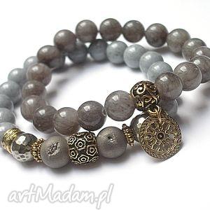 grey and old gold /04 12 15/ duo, agaty, piryty, kamienie, minerały, stal