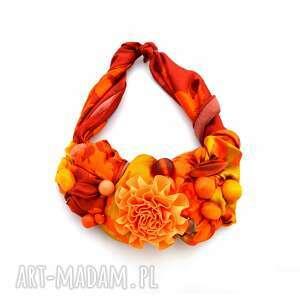 hand-made naszyjniki mandarin naszyjnik handmade