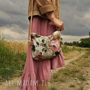 mini plecionka róża, róże, torebka, torba, vegan, len, lato