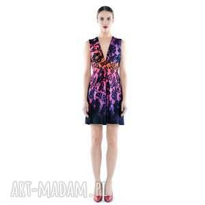magda mini - multicolor, sukienka, midi, kolorowa, wielobarwna