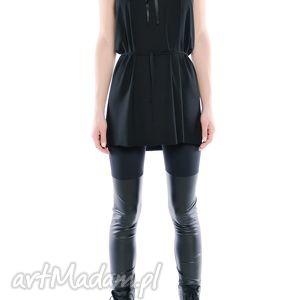 legginsy - dwie czernie, czarne, elastyczne, wygodne