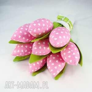 Prezent Tulipany- bukiet z 8 sztuk, tulipany, tulipany-z-materiału, prezent,