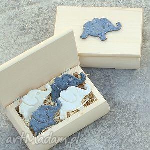 słoniki na magnes w drewnianej szkatułce, szkatułka, słonik, pudełko, kuchnia