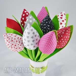 Tulipany - bukiet z 10 sztuk dekoracje sznurekwiki bukiet