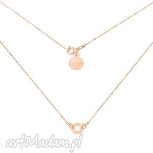 naszyjnik z różowego złota delikatną karmą - złote