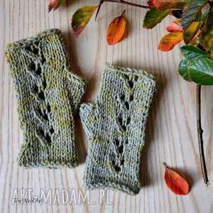 rękawiczki mitenki, rękawiczki, na dłonie, drutach