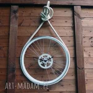 Zegar Marine, sznur, morski, duży, okrągły, metalowy, loft