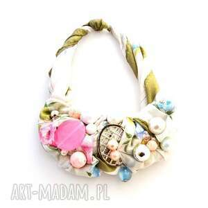 mgiełka naszyjnik naszyjnik, kolorowy, pastelowy, różowy, kremowy