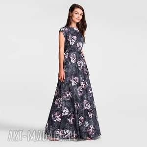 sukienka nerea maxi iris, sukienka, maxi, na wesele, długa