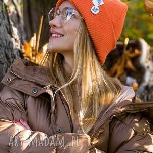 Wywijana dwustronna logo kolorowe juicy orange czapki brain