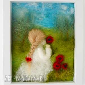 Prezent Maki, kwiaty, maki, filcowanie, dekoracja, prezent, handmad