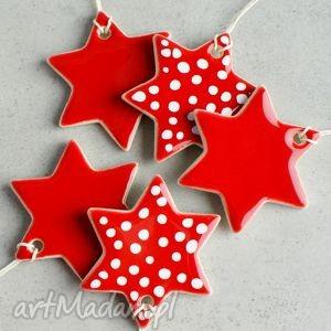 Święta upominek? Gwiazdki - zestaw zawieszek dekoracje pracownia