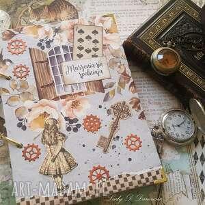 pamiętnik/ notes /alicja w krainie czarów, alicja, pamiętnik, buteleczka, serce