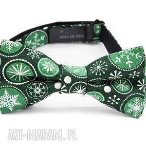 Prezent mucha GREEN CHRISTMAS, moda, on, prezent, krawat, mucha, urodziny